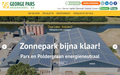 Screenshot of Home Page parsgranen.nl - Graanhandel - Granen - George Pars Graanhandel - captured Sept. 27, 2018