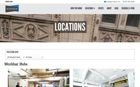 Screenshot of Locations Page workbar.com - Locations - Workbar - captured Nov. 23, 2015