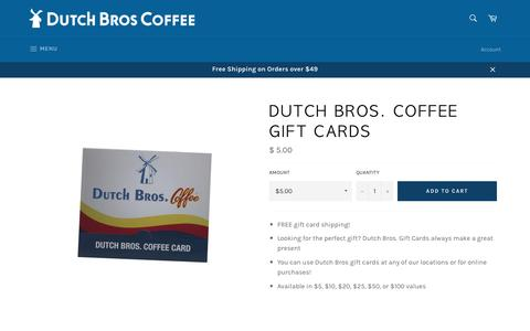Dutch Bros. Coffee Gift Cards – DutchWear