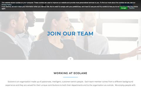 Screenshot of Jobs Page ecolane.com - Transit Employment Opportunities | Ecolane - captured Sept. 16, 2018