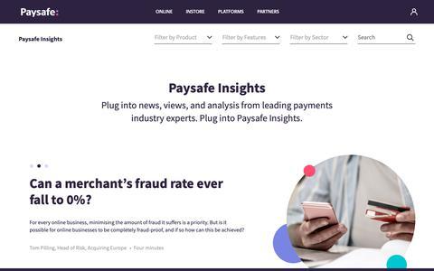 Screenshot of Blog paysafe.com - Paysafe Insights   Paysafe - captured Feb. 12, 2019
