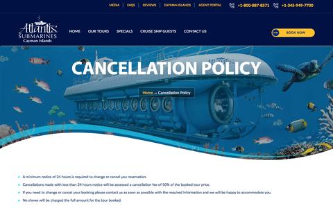 Cancellation Policy - Cayman Tour, Submarine Dive In Cayman