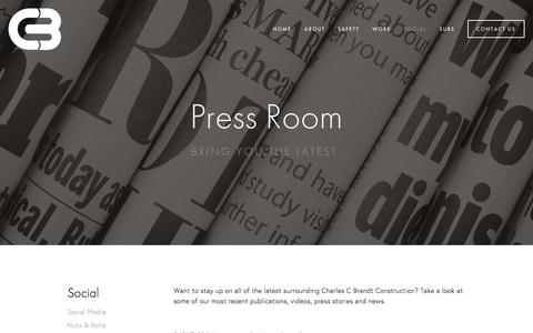 Screenshot of Press Page ccbrandt.com - Press Room — Charles C. Brandt Construction Co. - captured Jan. 27, 2016