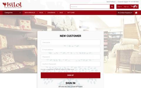 Screenshot of Signup Page kilol.com - User account | Kilol - captured Nov. 27, 2016