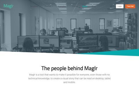 Screenshot of About Page maglr.com - The people behind Maglr. - Maglr - captured Nov. 26, 2018