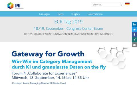 Screenshot of Press Page iriworldwide.com - ECR Tag 2019- IRI - captured Jan. 6, 2020