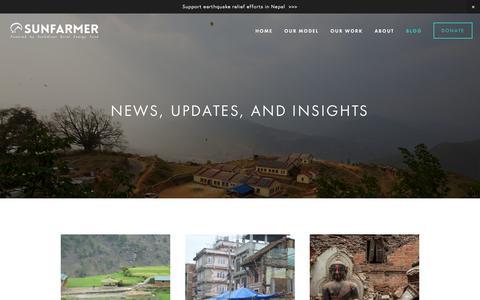 Screenshot of Blog sunfarmer.org - Blog — SunFarmer - captured Aug. 4, 2015