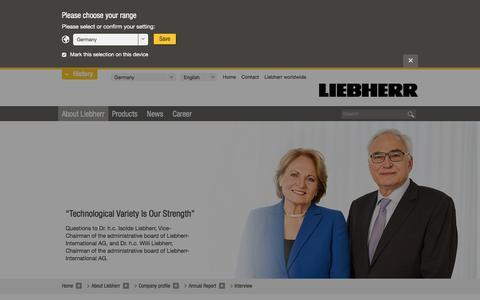 Screenshot of liebherr.com - Interview - Liebherr - captured Oct. 8, 2016