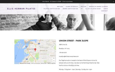 Screenshot of Contact Page Maps & Directions Page elliehermanpilates.com - contact — Ellie Herman Pilates - captured Nov. 5, 2016