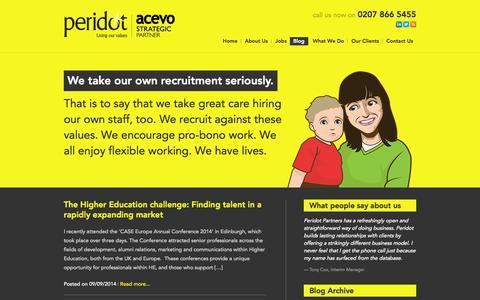 Screenshot of Blog peridotpartners.co.uk - Peridot Partners - Blog Peridot - captured Oct. 27, 2014