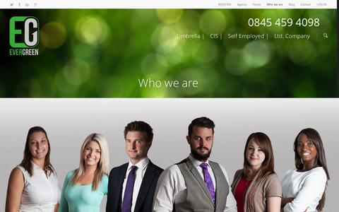 Screenshot of Team Page weareevergreen.co.uk - Who we are |  Evergreen - captured Oct. 3, 2014