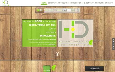 Screenshot of Home Page ristrutturazionihd.com - HD » HD Ristrutturazioni - captured Oct. 1, 2014