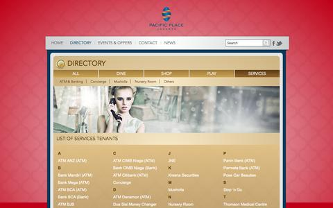 Screenshot of Services Page pacificplace.co.id - Services | Pacific Place Jakarta - captured Sept. 23, 2014