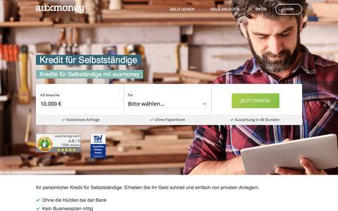 Kredit für Selbstständige & Freiberufler | AUXMONEY