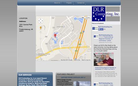 Screenshot of Maps & Directions Page dlrcontracting.com - DLR Contracting. Inc. - General Contractor - Fredericksburg, Virginia - Directions - captured Oct. 5, 2014