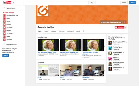 Screenshot of YouTube Page youtube.com - Granada Insider  - YouTube - captured Oct. 23, 2014