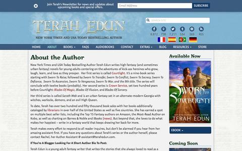 Screenshot of About Page terahedun.com - About the Author   Terah Edun - captured July 22, 2016