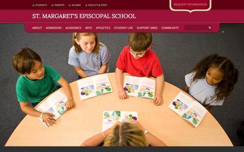 Screenshot of Home Page smes.org - St. Margaret's Episcopal School  Private Preschool Through Grade 12 Orange County, San Juan Capistrano, California - captured June 19, 2015