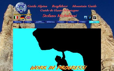 Screenshot of Blog stefanomichelazzi.eu - Blog - Guida Alpina- Bergführer- Mountain Guide- Stefano Michelazzi - captured Oct. 26, 2014