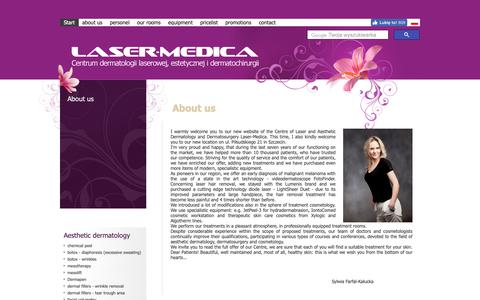 Screenshot of About Page laser-medica.eu - Centre of Laser and Aesthetic Dermatology and Dermatosurgery Laser-Medica - Laser-Medica - captured Dec. 3, 2018