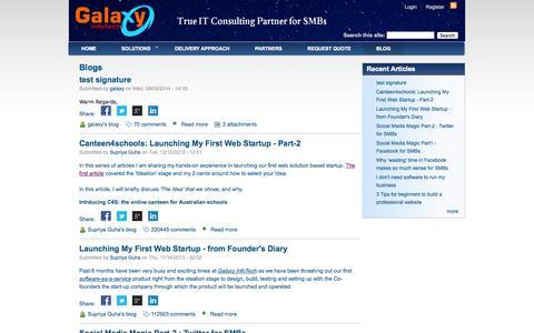 Screenshot of Blog galaxyinfotech.com.au - Blog for small and medium business IT solutions in Australia   Galaxy Infotech Australia                     . - captured Oct. 1, 2014