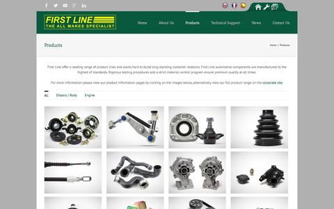 Screenshot of Products Page firstline.co.uk - First Line   –  Products - captured Feb. 10, 2016