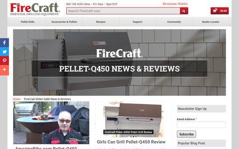 Screenshot of Press Page firecraft.com - FireCraft Pellet-Q450 News & Reviews   FireCraft - captured Aug. 13, 2018