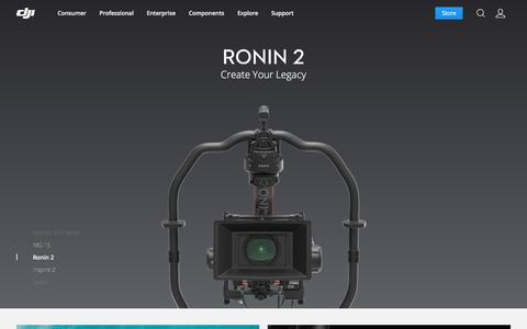Screenshot of Home Page dji.com - DJI - The Future Of Possible - captured Oct. 23, 2017