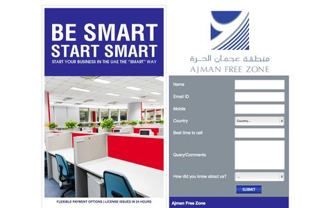 Screenshot of Landing Page afza.gov.ae - How to start a business | Start up business | Starting up a business | Setting up a business | Business in dubai | Small business to start - captured Oct. 27, 2014