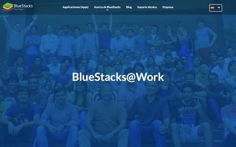 Screenshot of Jobs Page bluestacks.com - ¡Trabaja con nosotros a Bluestacks! - captured May 19, 2017