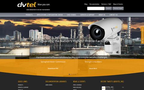 Screenshot of Home Page dvtel.com - DVTEL - Video innovation to secure your business - captured Sept. 11, 2014