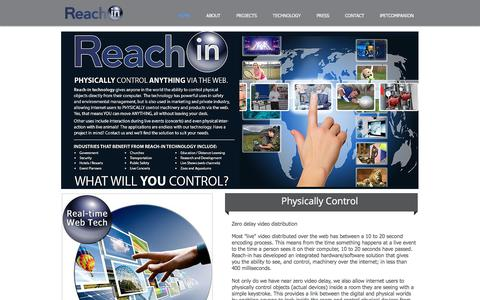 Screenshot of Home Page reach-in.com - reach-in - captured Feb. 21, 2018