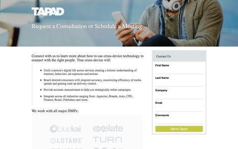 Screenshot of Landing Page tapad.com - Consultation - captured Oct. 18, 2016