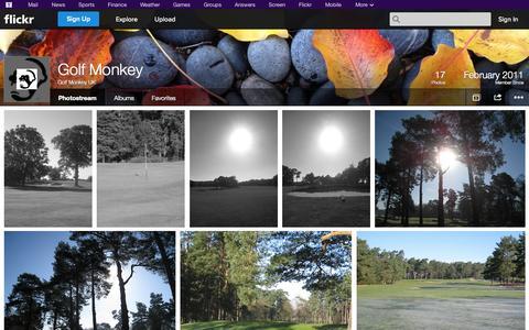 Screenshot of Flickr Page flickr.com - Flickr: Golf Monkey UK's Photostream - captured Oct. 25, 2014