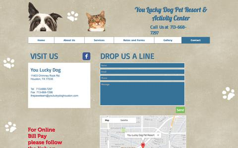Screenshot of Contact Page paws-for-a-moment.com - Paws For A Moment | Contact - captured July 25, 2017