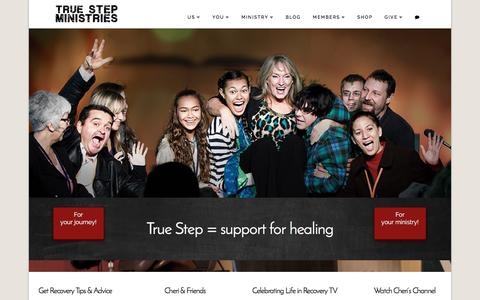 Screenshot of Home Page truestep.org - True Step Ministries | Support for emotional healing and recovery - captured June 14, 2016