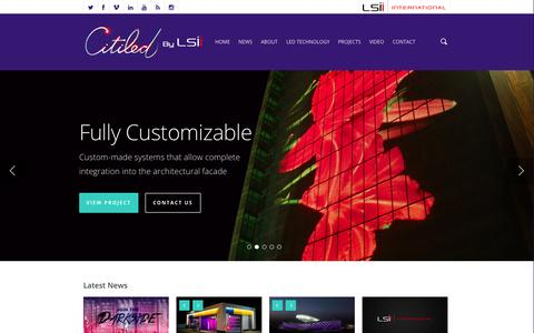 Screenshot of Home Page citiled.com - Citiled by LSII - captured Sept. 29, 2014