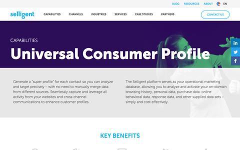 Universal Consumer Profile | Selligent