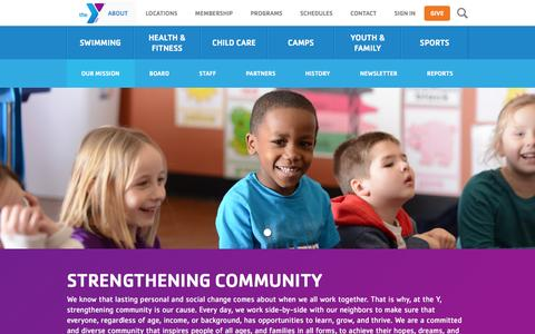 Screenshot of About Page myy.org - Our Mission | YMCA of Greater Cincinnati - captured Feb. 3, 2016