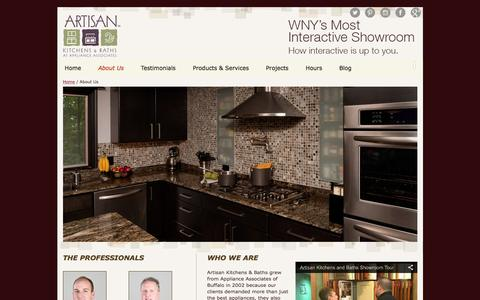 Screenshot of About Page Maps & Directions Page artisankitchensandbaths.com - About Us - Artisan Kitchens and Baths - captured Feb. 6, 2016