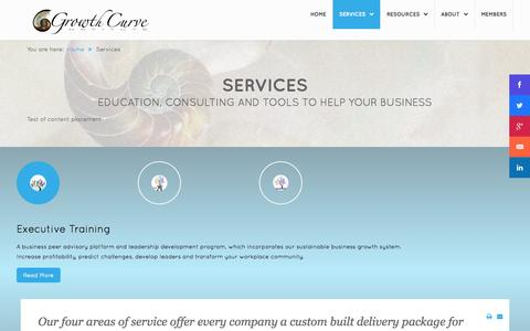 Screenshot of Services Page sustainablebusinessgrowth.com - Services - captured Sept. 19, 2014