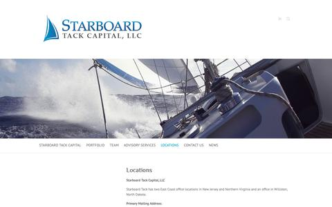Screenshot of Locations Page starboardtackcap.com - Locations - Starboard Tack Capital, LLC - captured Oct. 20, 2018
