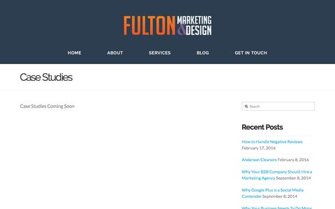 Screenshot of Case Studies Page fulton-marketing.com - Case Studies - Fulton Marketing - captured March 2, 2016