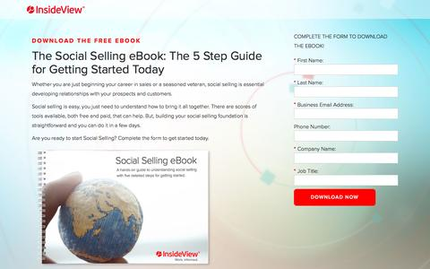 Screenshot of Landing Page insideview.com - The Guide to Social Selling with InsideView | Registration - captured Oct. 20, 2016