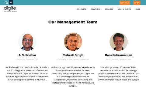 Our Founders & Management Team - Digité