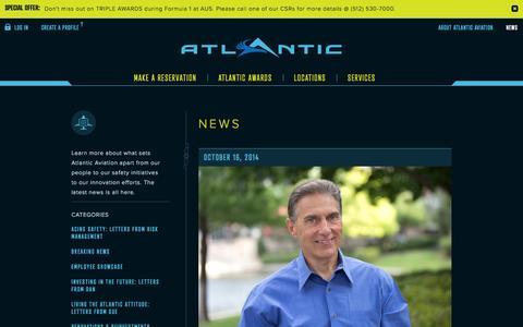Screenshot of Press Page atlanticaviation.com - Atlantic Aviation - News - captured Oct. 22, 2014