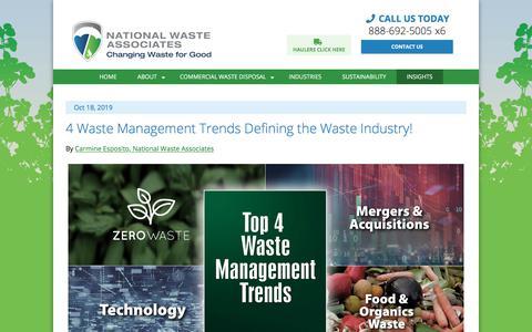 Screenshot of Blog nationalwaste.com - NWA Blog | National Waste Associates - captured Jan. 6, 2020