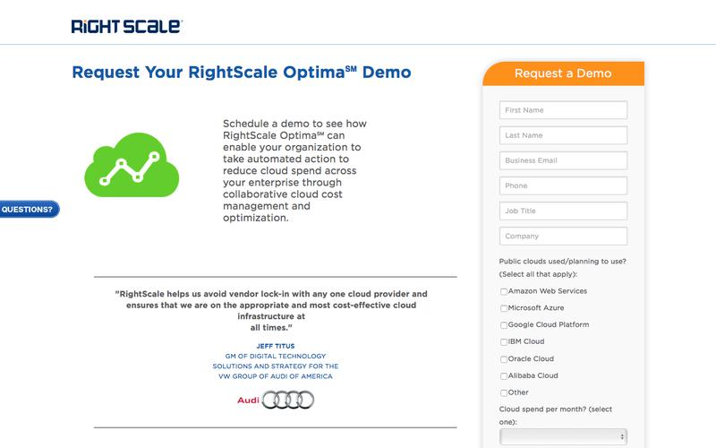RightScale Optima Demo