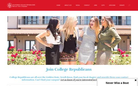 Screenshot of Signup Page collegegop.org - Join Now - California College Republicans - captured Oct. 16, 2016