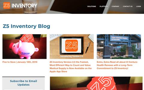 Screenshot of Blog z5inventory.com - Z5 Inventory - Blog - captured Jan. 26, 2018
